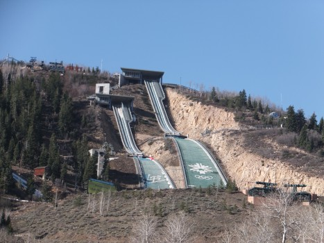 The real ski jumps
